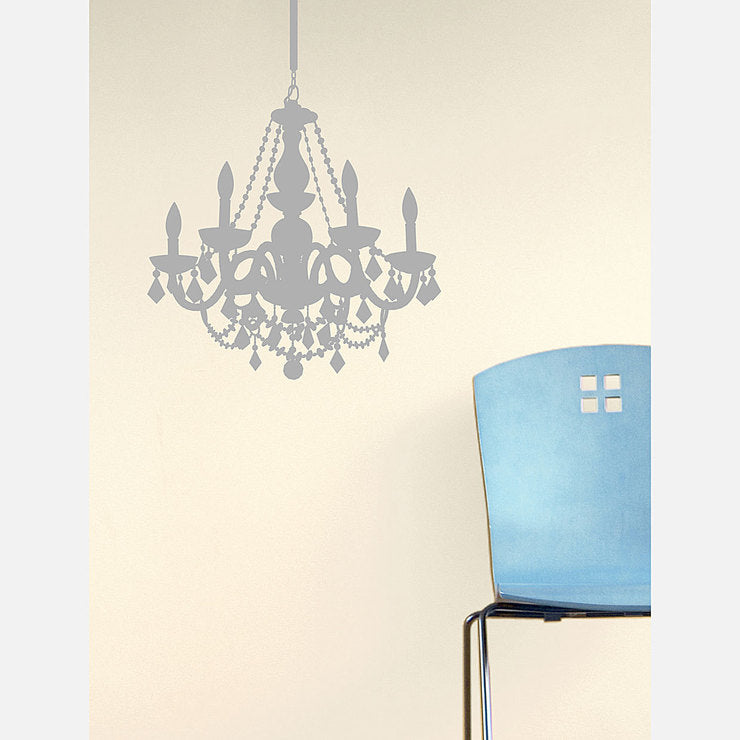 Chandelier Decal 28x23 Silver