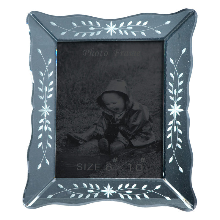 Etched Glass Photo Frame 8x10 Fab