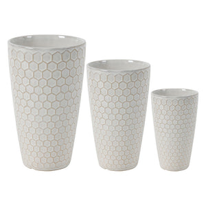 Honeycomb Vases Set of 3