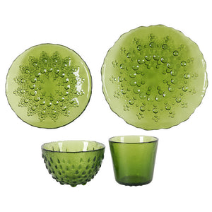 Bubbles Place Setting Green