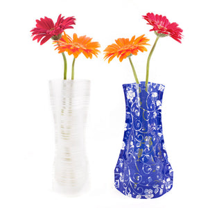 Foldable Vases Set of 2 Teal