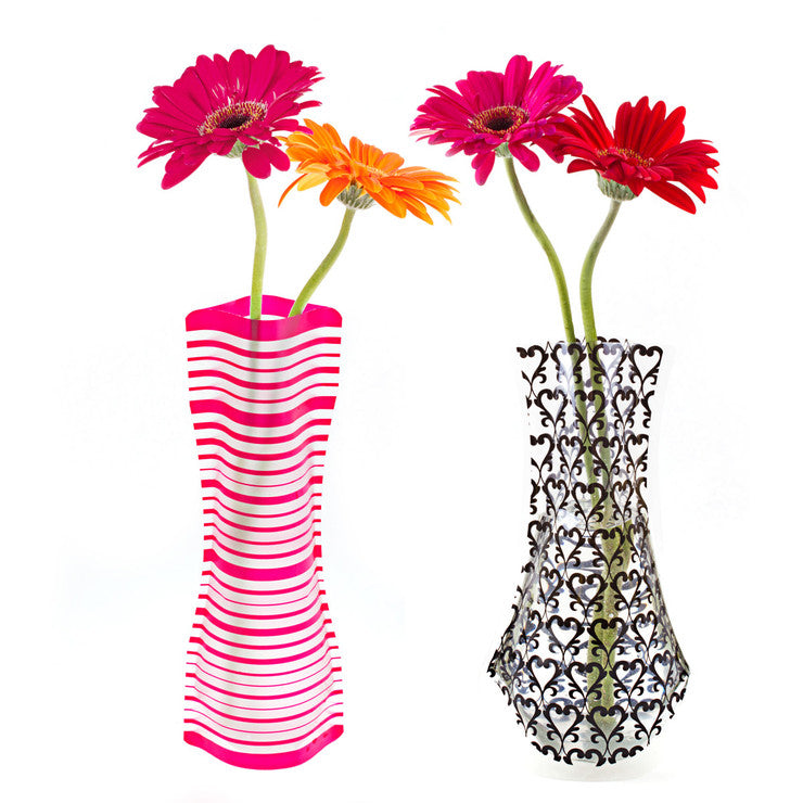 Foldable Vases Set of 2 Fuschia