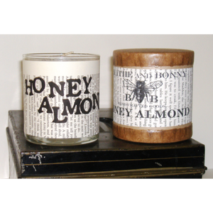 4 Pk Soy Candles Honey Almond