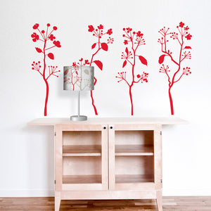 Budding Lampshade & Decal Red