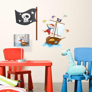 Pirates Lampshade & Decal Multi