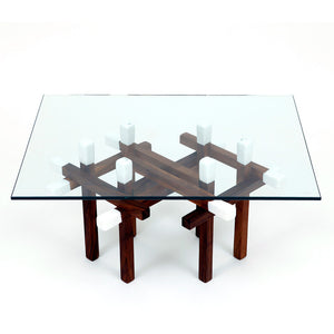 Double Matchstick Table Walnut