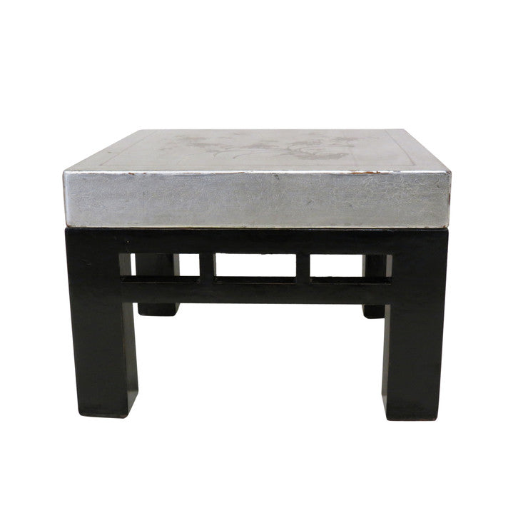 End Table Black & Silver