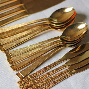 Gold Plated Flatware Set Of 4