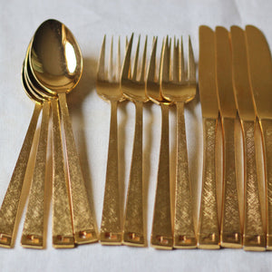 Gold Plated Flatware Set Of 5