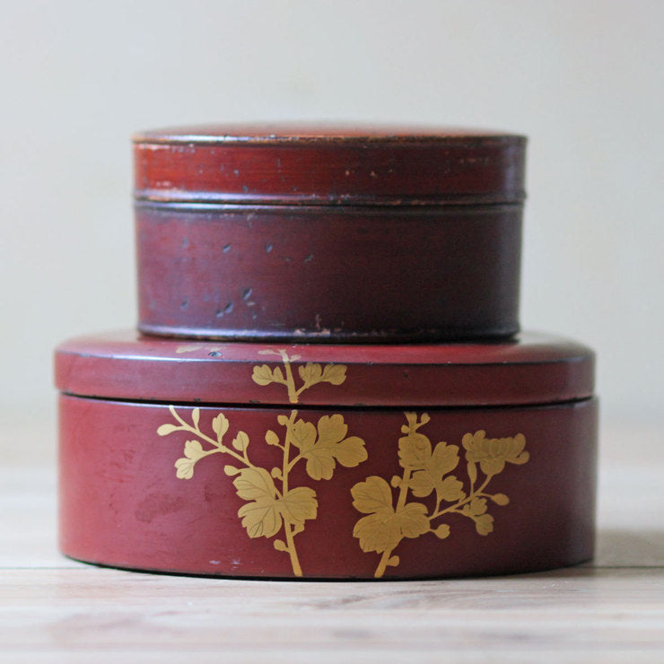 Lacquered Lidded Boxes Pair II