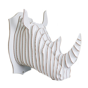 Giant Robbie Rhino Trophy  White