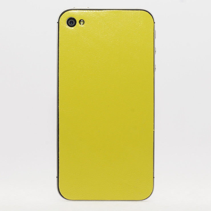 iPhone 4/4S Leather Back Yellow