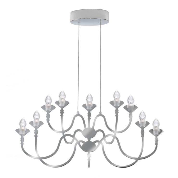 Edge 9-Light Pendant Chrome