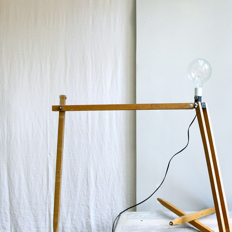 Industrial Geometric Tripod Lamp