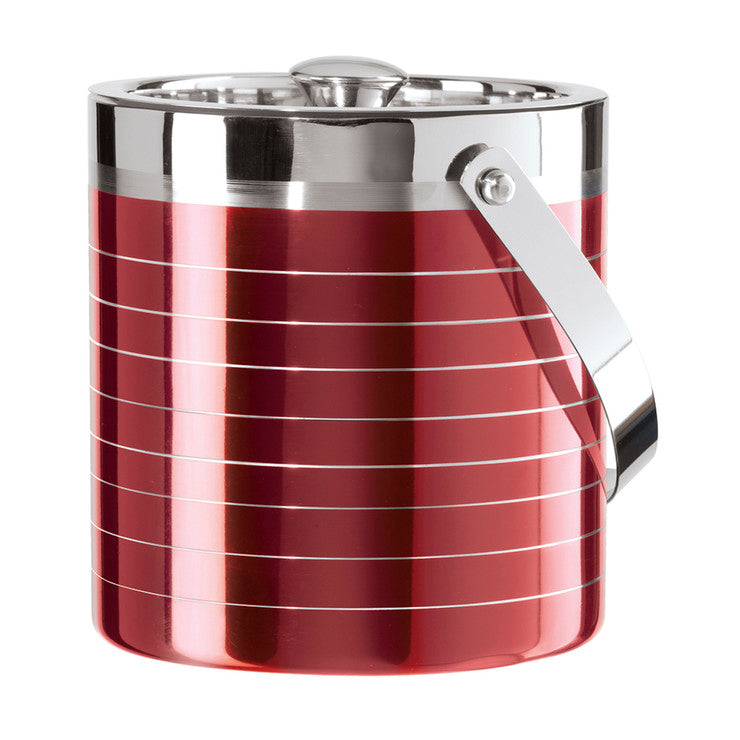 Double Wall Ice Bucket Red