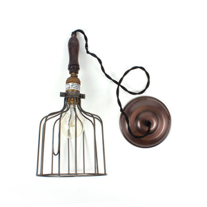 Fab Industrial Wire Pendant Gray