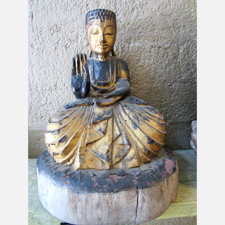 Japanese Wood Buddha