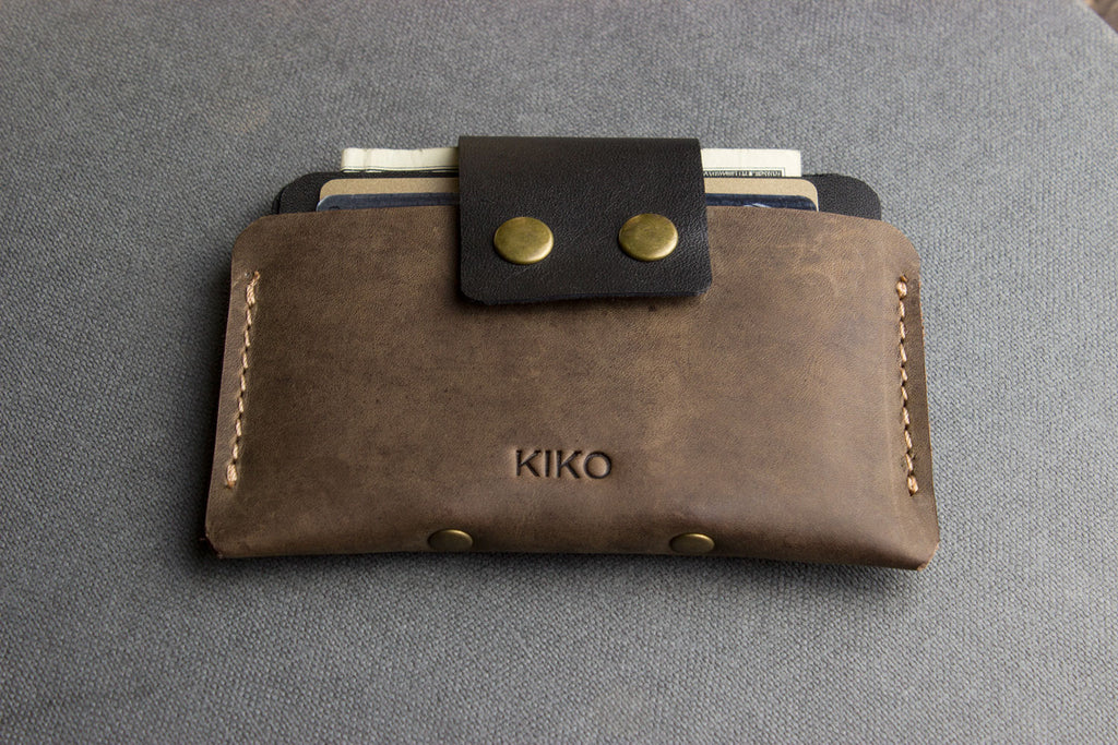 Leather Card Case (Brown)