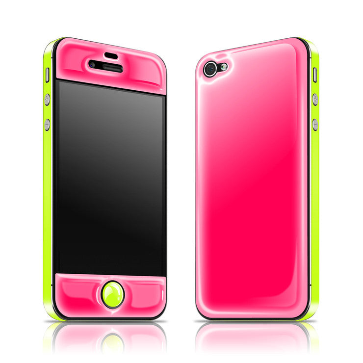 iPhone 4/4S Glow Gel Pink Ylw