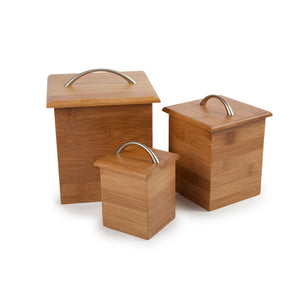 Bamboo Canister Set Of 3