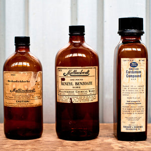 Amber Bottles With Labels