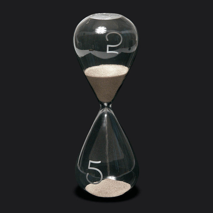 Five Minute Hourglass Slvr-Toned