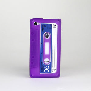 iPhone 4/4S Cassette Case Purple