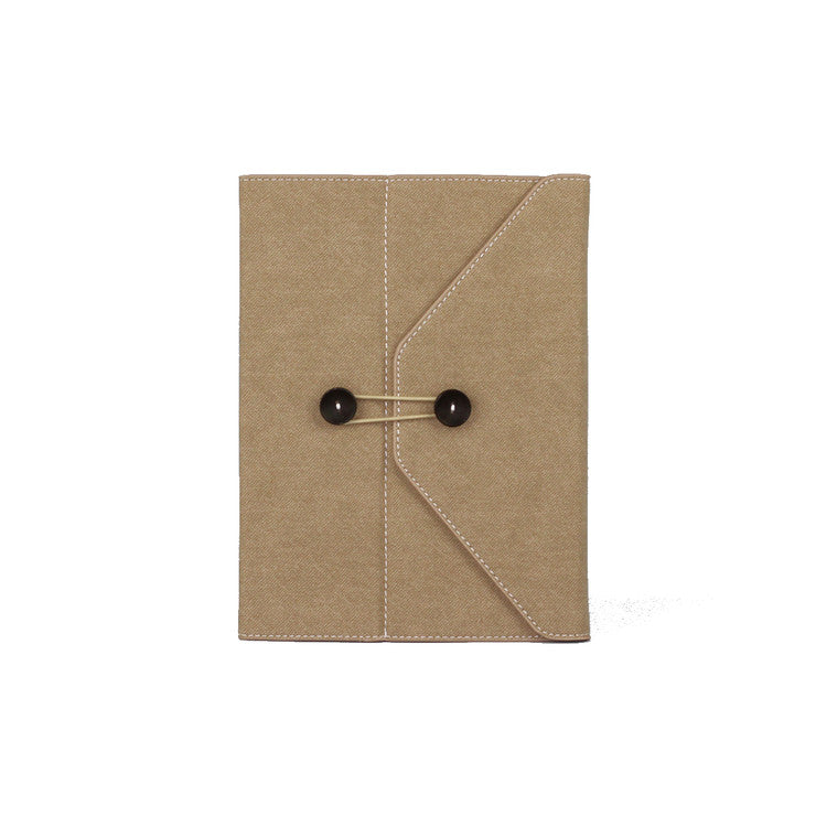 Denim iPad Portfolio Beige