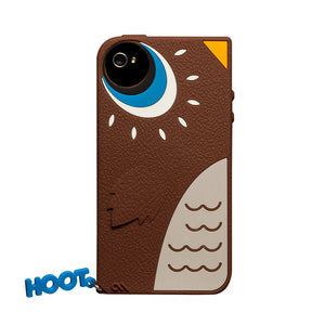 iPhone 4/4S Case Hoot Owl Brown