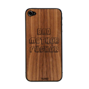 iPhone 4/4S Bad Mother Walnut