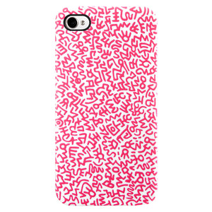 Graffiti iPhone 4 Case Pink