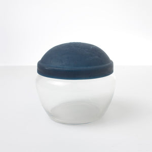 Lidded Glass Containder Navy