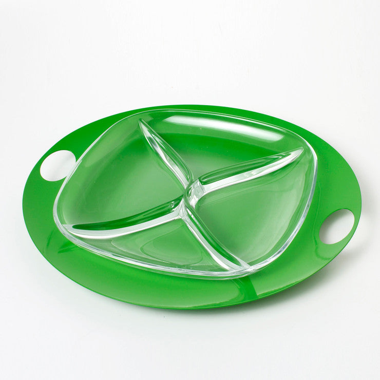 Square Appetizer Plate Green