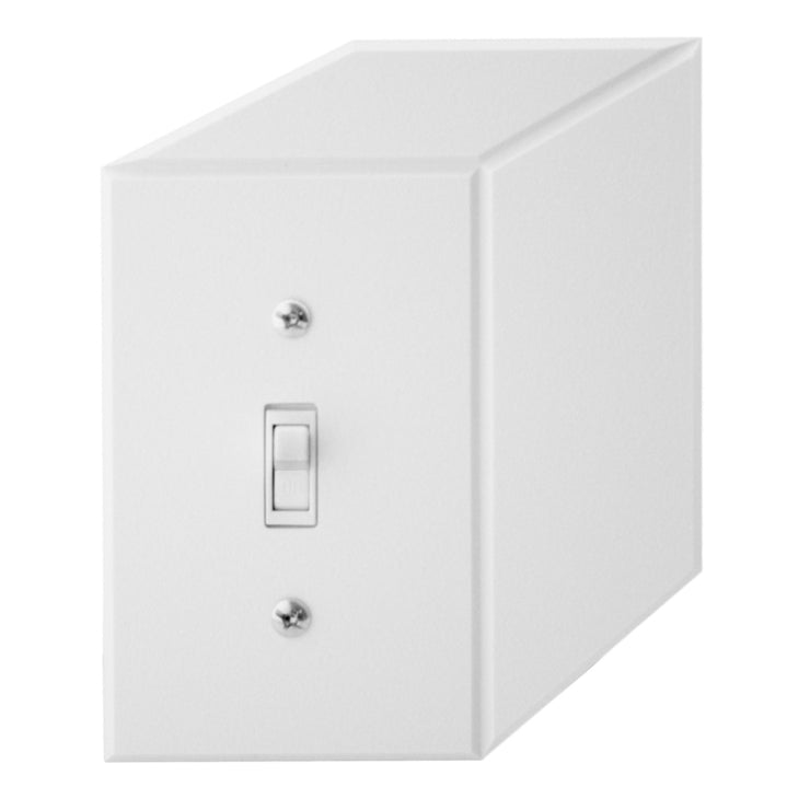 Cubic Switchplate White 2 Pack