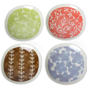 Flora Assorted Plates Set Of 4