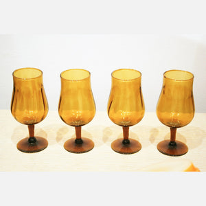 Hand Blown Sherry Glasses 4pc