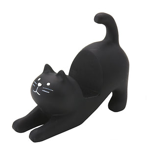 Cat Smartphone Stand Black