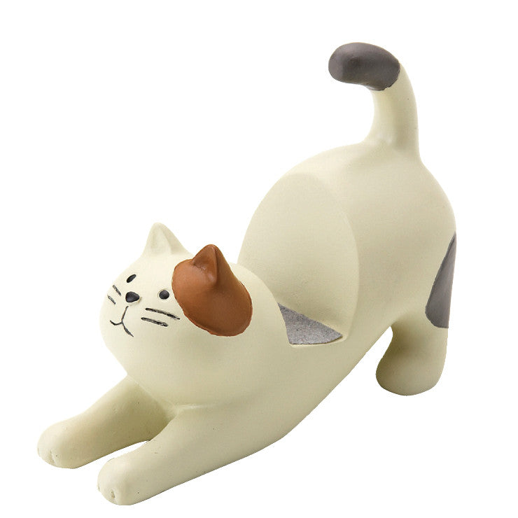 Cat Smartphone Stand Brown