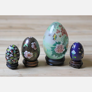 Cloisonné Eggs Set Of 4