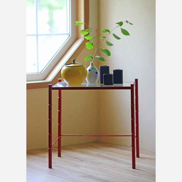 Bamboo Motif Side Table