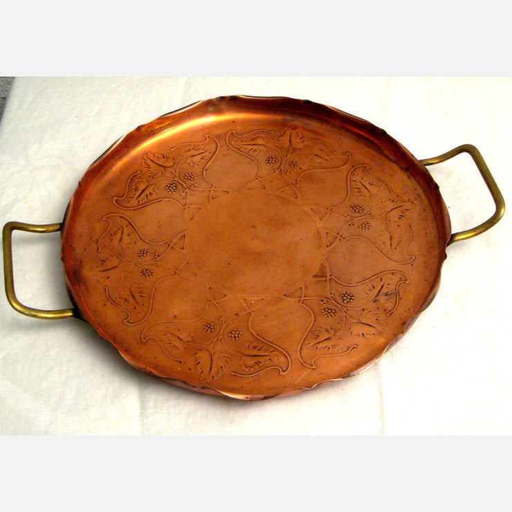 Art Nouveau Copper Tray