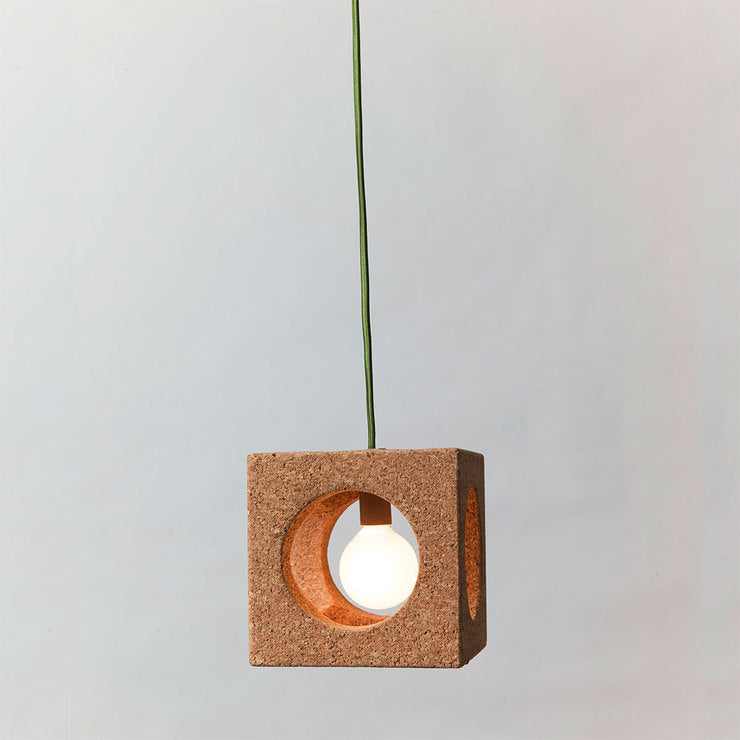 Fabric Lighting Cord Intended Cube Light With Fabric Cord Grn