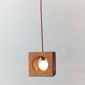 Cube Light With Fabric Cord Red