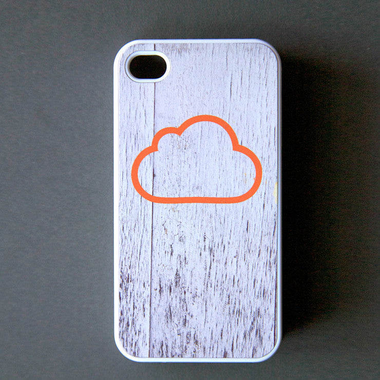 Cloud iPhone 4/4S Case Orange