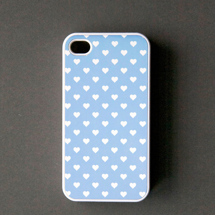 Hearts iPhone 4/4S Case Blue