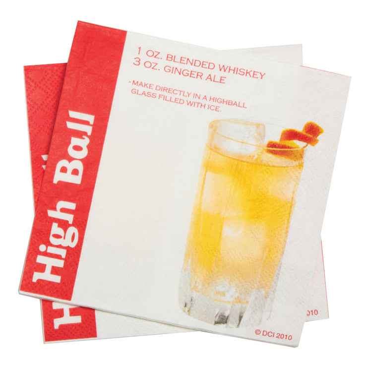 Cocktail Napkins High Ball 120pk