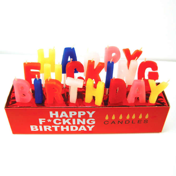 Happy F*cking B-day Candles 6pk