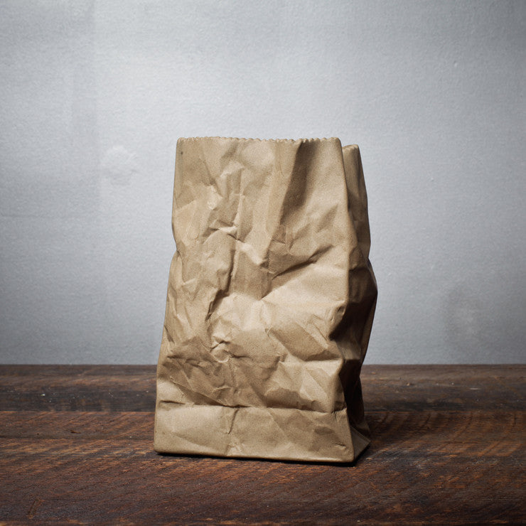 Ceramic Paper Bag Brown