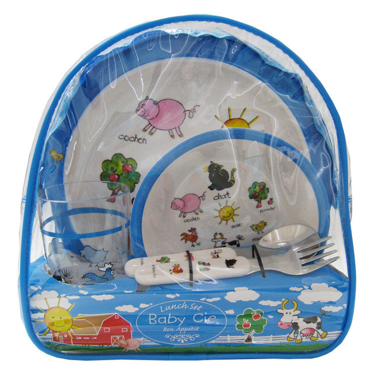 Farm Animals Backpack Lunch Set
