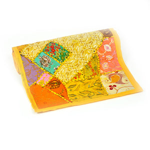 Patchwork Table Runner Yellow